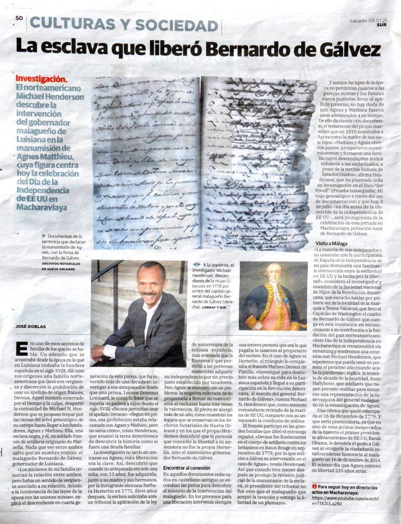 Pagina 50 diario SUR, 3/7/2021